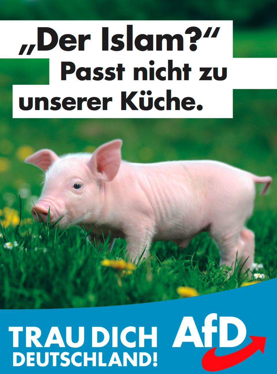 Eines der Wahlplakate der AfD