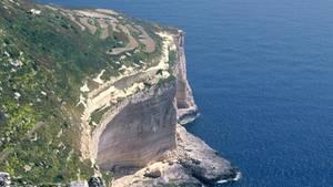 Blick über die Küste Maltas und auf die Dingli-Klippen
