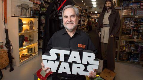 """Steve Sansweet, Betreiber der """"Obi-Wan""""-Ranch im kalifornischen Petaluma, der weltgrößten Sammlung von """"Star Wars""""-Andenken"""