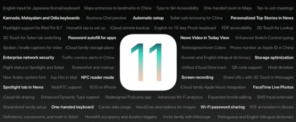 Apple - iOS 11 - Features - Neuheiten 2