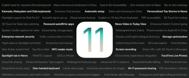 Apple - iOS 11 - Features - Neuheiten 2
