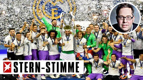 Spieler von Real Madrid feiern ihren Erfolg im Finale der Champions League in Cardiff