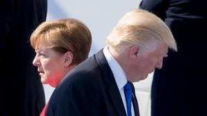 Angela Merkel und Donald Trump auf dem Nato-Gipfel in Brüssel