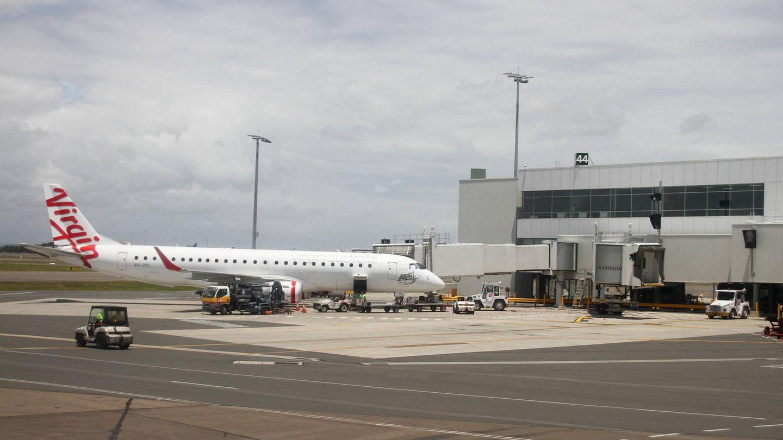 Eine Maschine der Virgin-Airline steht in Sydney auf dem Rollfeld