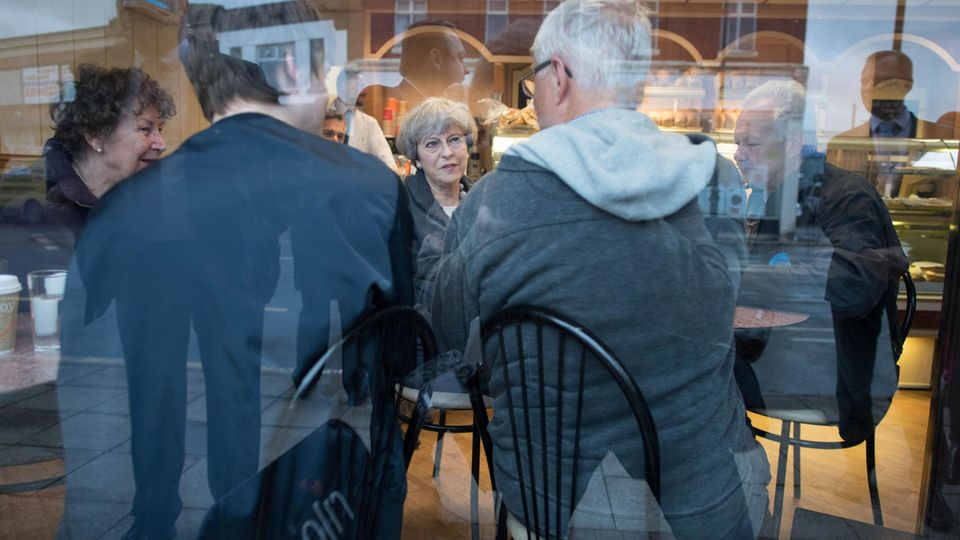 Theresa May im Wahlkampf