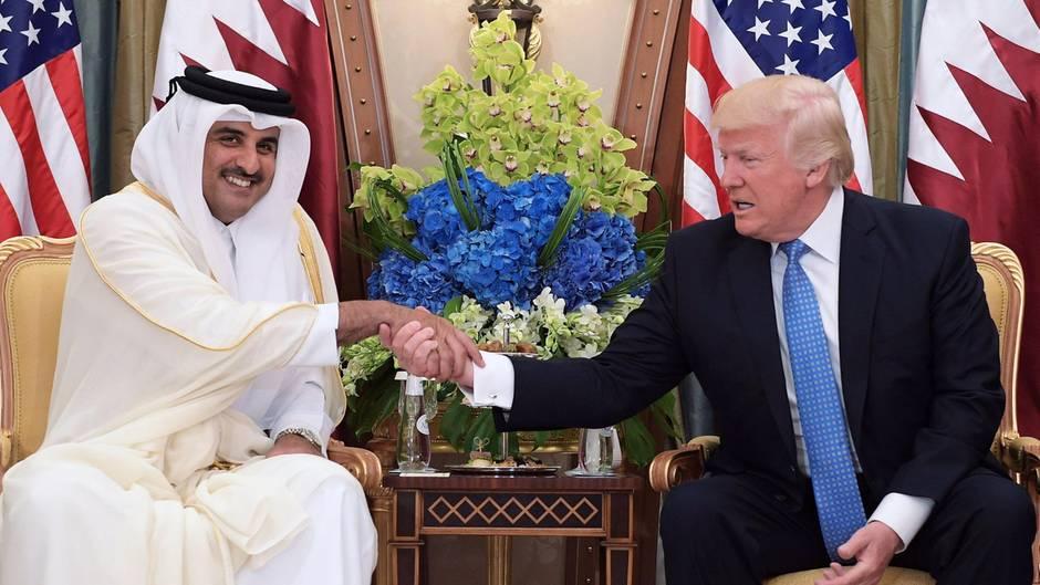 Donald Trump Emir Katar