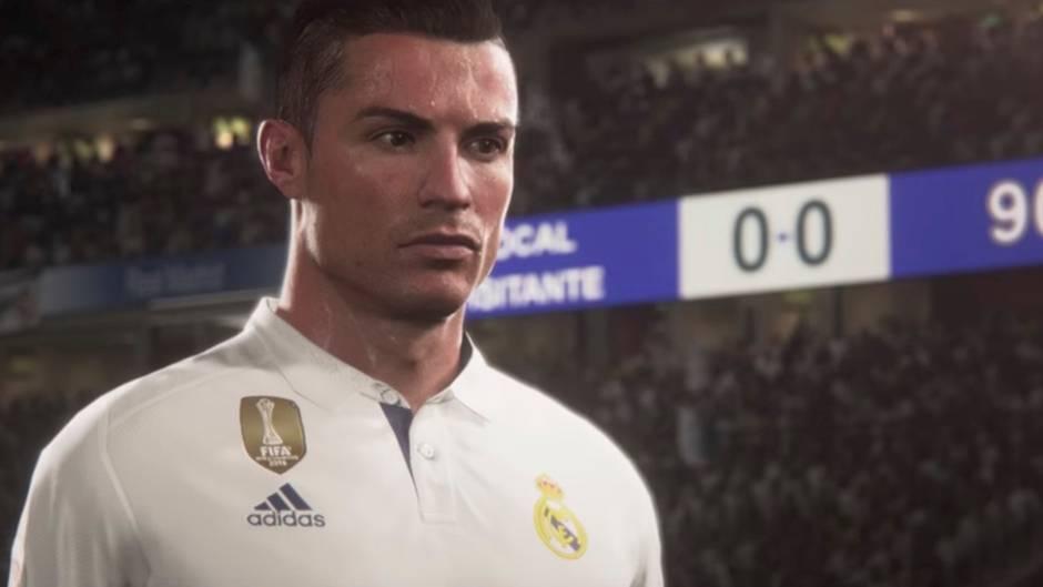 """Neues Videospiel: So realistisch sieht Cristiano Ronaldo im ersten Trailer zu """"FIFA 18"""" aus"""