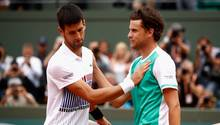 French Open - Novak Djokovic - Viertelfinal-Aus - Dominic Thiem