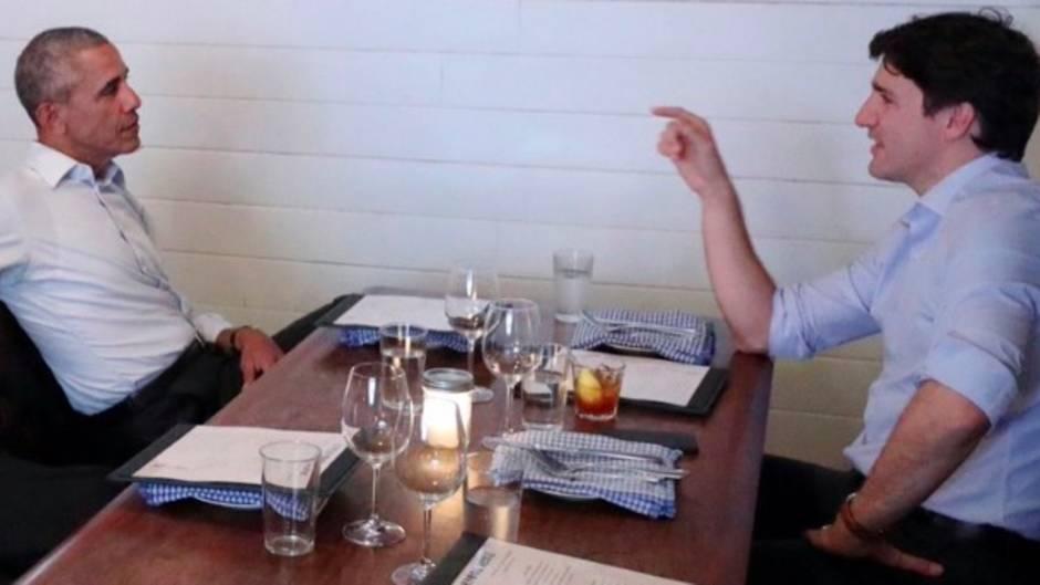 Bromance zum Verlieben: Justin Trudeau trifft Barack Obama - und das Netz läuft heiß