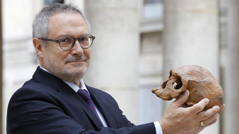 Der französische Wissenschaftler Jean-Jacques Hublin und der Sensationsfund: Der Schädel des Homo sapiens.