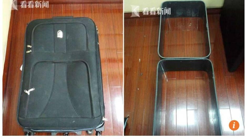 """Das Magazin """"South China Morning Post"""" veröffentlichte Fotos des Kokain-Koffers"""