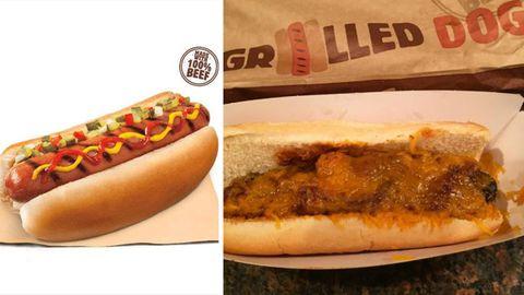 Bei Burger King gibt' jetzt Hotdogs