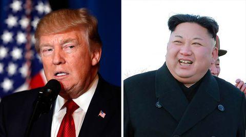 US-Präsident Donald Trump (l.) und der nordkoreanische Machthaber Kim Jong Un