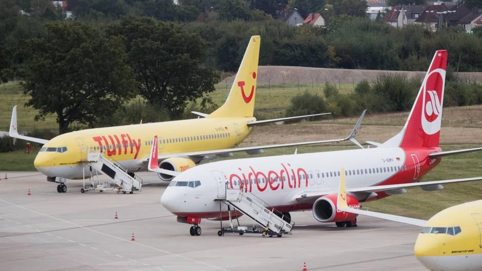 Flugzeuge von Tui und Air Berlin