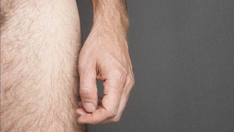 Ausschnitt eine nackten Männerkörper