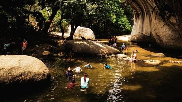 Aus Angst vor Entführungen badete an diesem Fluss lange Zeit niemand mehr. Jetzt herrscht wieder Hochbetrieb