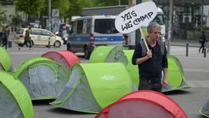 Gegner des G20-Gipfel haben bereits Mitte Mai gezeigt, wie sie sich das Protestlager im Stadtpark vorstellen
