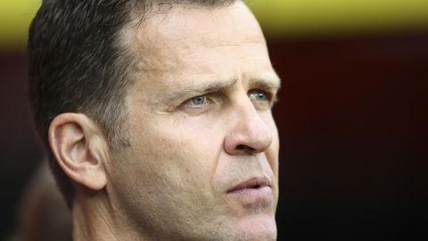 Oliver Bierhoff mit nachdenklichem Gesicht - Er wehrt russische Kritik am Confed-Cup-Kader ab