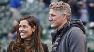 Ana Invanovic und Bastian Schweinsteiger besuchen ein Spiel des Baseball-Teams Chicago Cubs