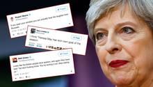Das schlechte Abschneiden von Premierministerin Theresa May bei der Wahl in Großbritannien sorgt für Häme bei Twitter