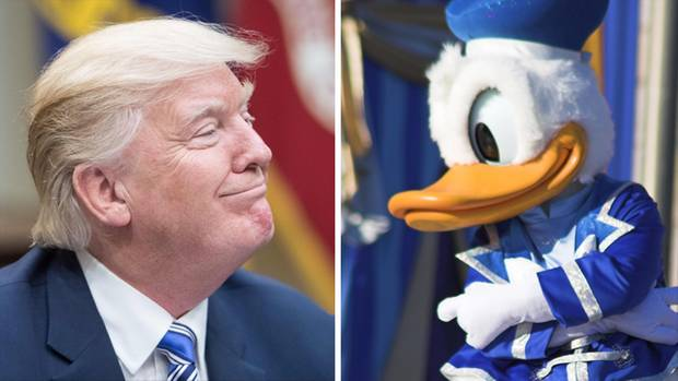 Donald trump und Donald Duck