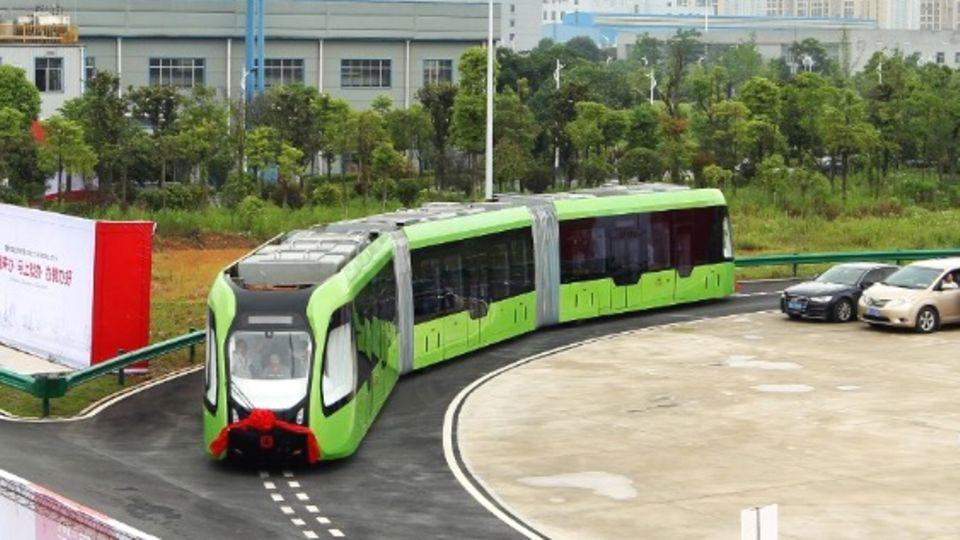 Verkehrsprojekt in China: Gigantischer Schwebe-Bus war nur eine Betrugsmasche