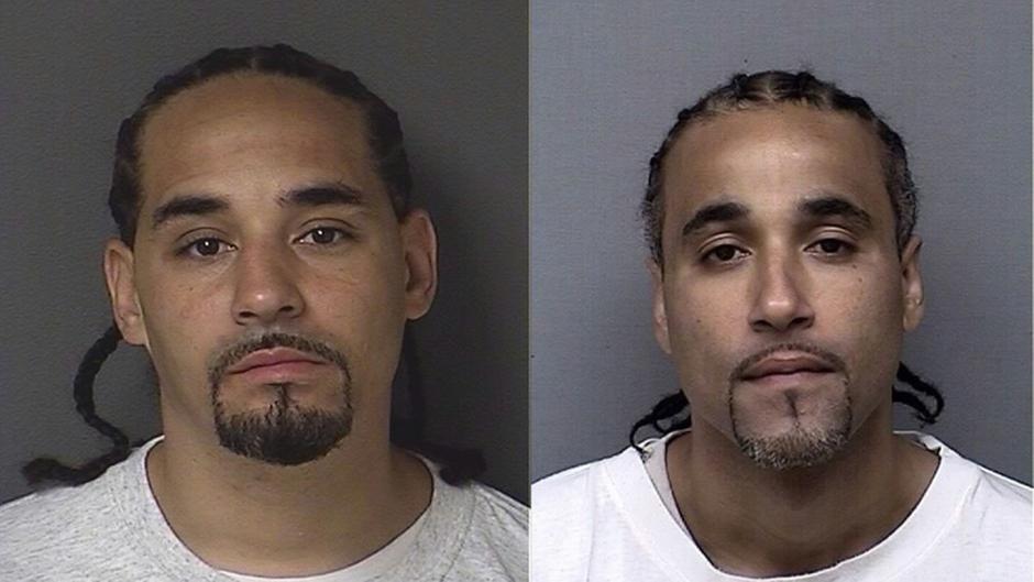 Richard Anthony Jones (rechts) und sein Doppelgänger Ricky sehen sich zum Verwechseln ähnlich