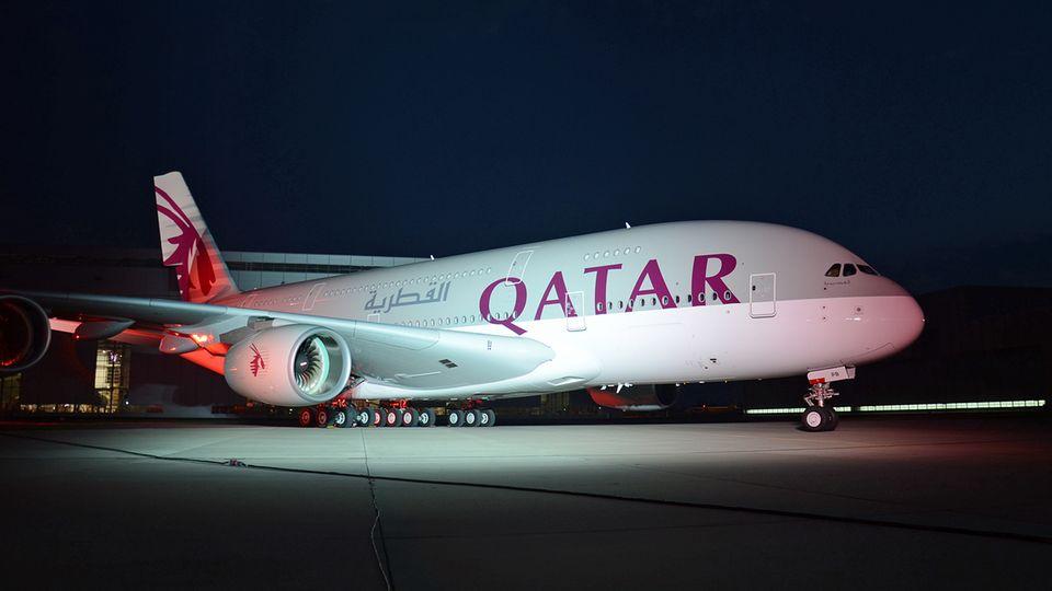 Airbus A380 von Qatar Airways