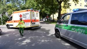 Die Polizei hat den S-Bahnhof Unterföhring nach dem Schusswechsel abgeriegelt