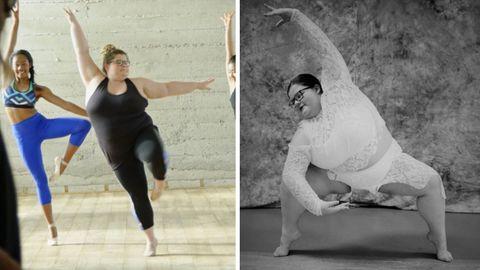 Lizzy steht auf einem Bein in der Pose einer Ballerina