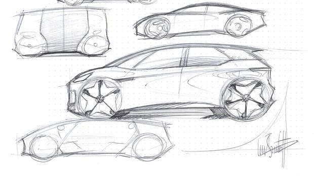 VW-Chefdesigner Bischoff zeichnet E-Autos