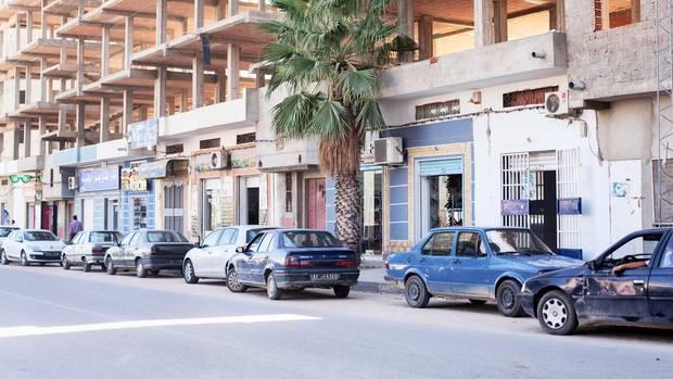 Bauruinen prägen das Bild von Kasserine, der ärmsten Stadt Tunesiens