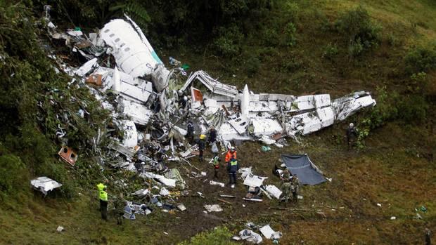 Die Maschine Avro RJ-85 stürzte am 28. November 2016 über Kolumbien ab