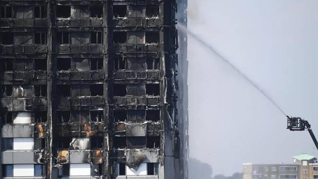 Ausgebrannter Grenfell Tower