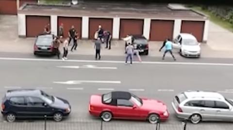 Das Zeugenvideo dokumentiert die Schlägerei, die zu einer Schießerei wurde