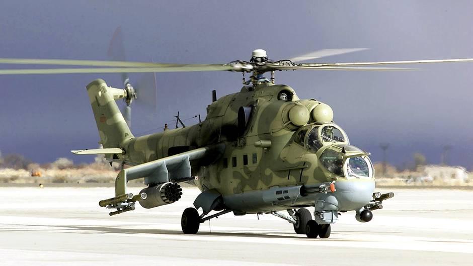 Eine Mi-24 mit voller Ausrüstung.