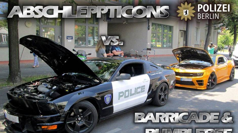 berlin polizei schleppt transformers autos ab. Black Bedroom Furniture Sets. Home Design Ideas