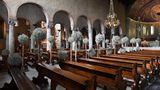 Die Hochzeit fandin der San Giusto Kathedrale in Triest statt.
