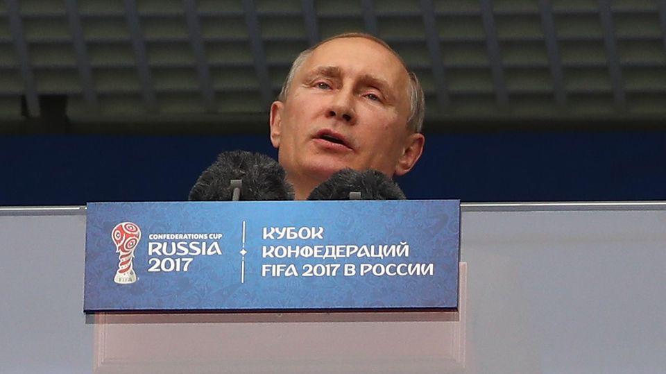 """Wladimir Putin beim Confed Cup: """"Fußball vereint die Welt. Willkommen in Russland"""""""