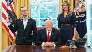 Schwuler Lehrer setzt mutiges Zeichen im Oval Office bei Donald Trump