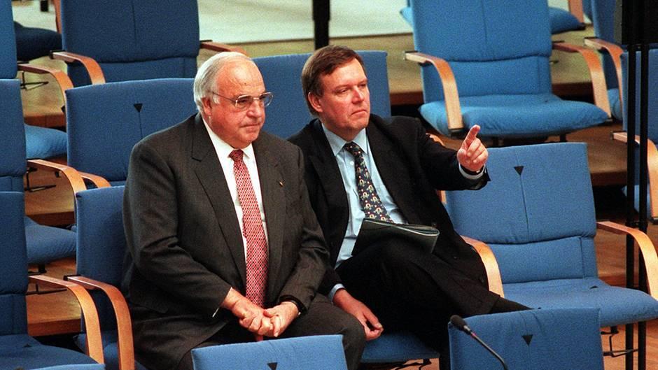 Helmut Kohl und Volker Rühe