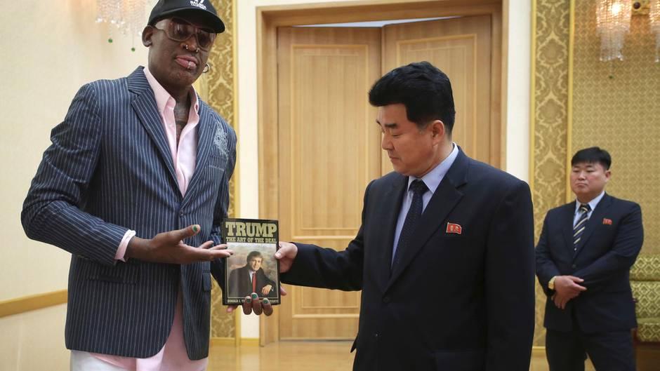 Dennis Rodman Nordkorea Donald-Trump-Buch