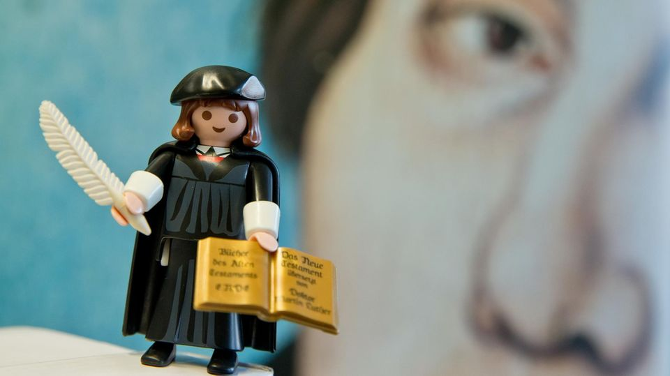 Martin Luther als Playmobil-Figur