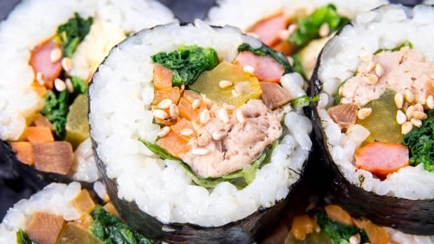 Sieht lecker aus und schmeckt auch so: Kimbab