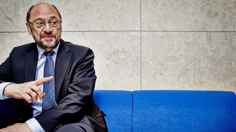 Martin Schulz im Willy-Brandt-Haus in Berlin