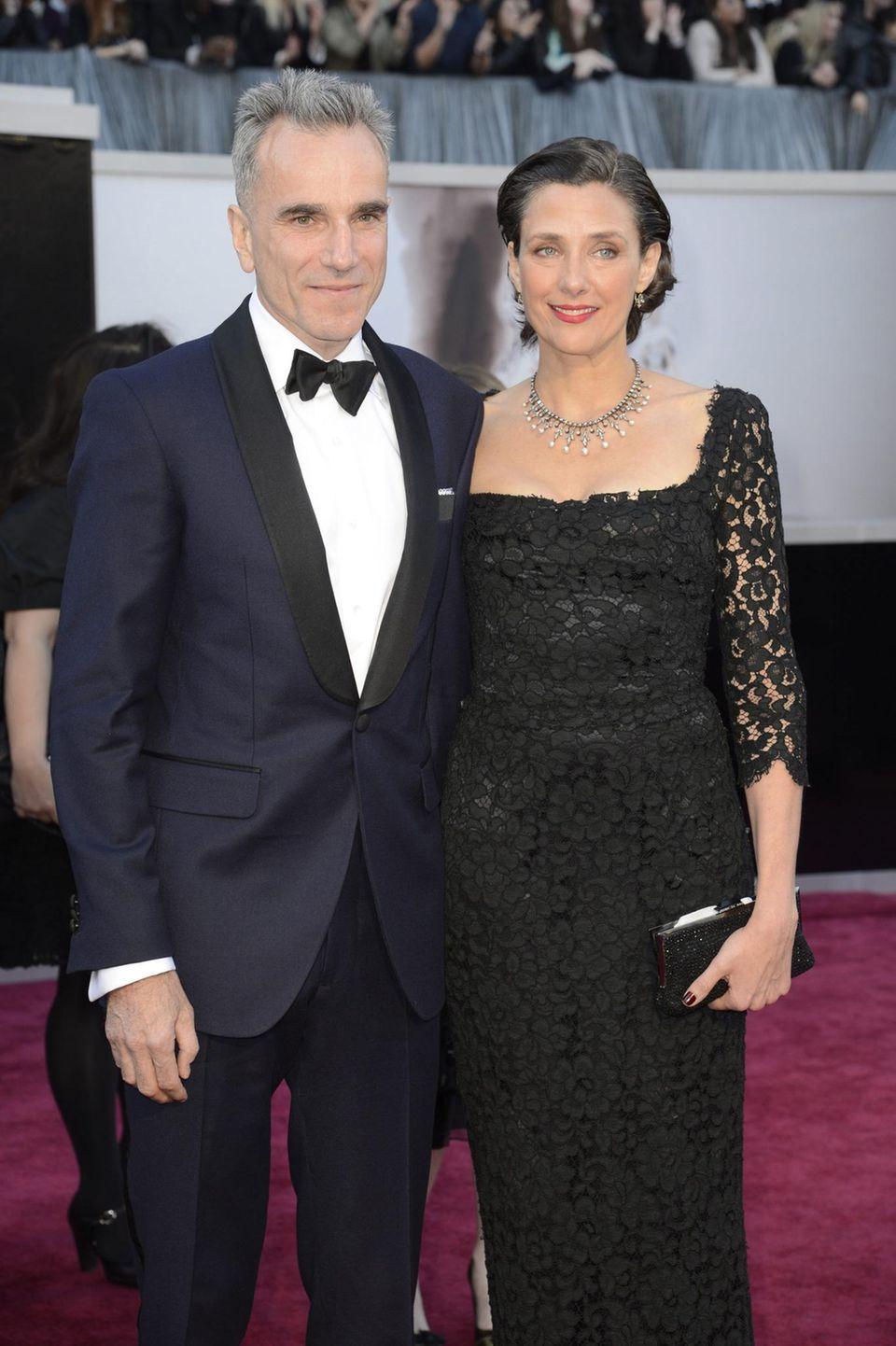 Daniel Day-Lewis und seine Frau Rebecca Miller bei der Oscar-Verleihung 2013