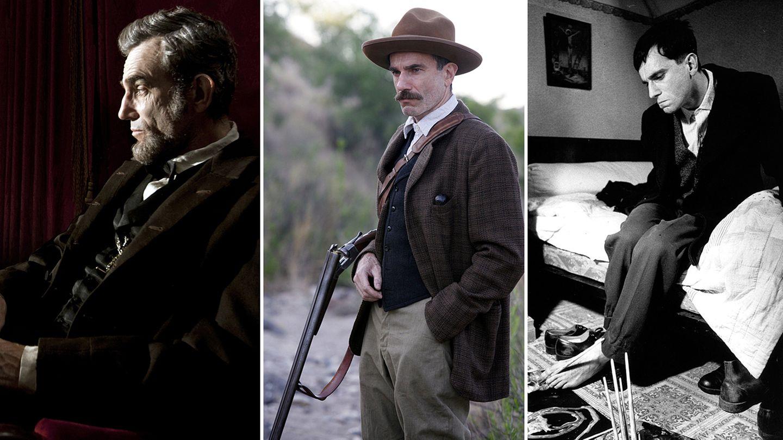 Daniel Day-Lewis in seinen oscargekrönten Rollen