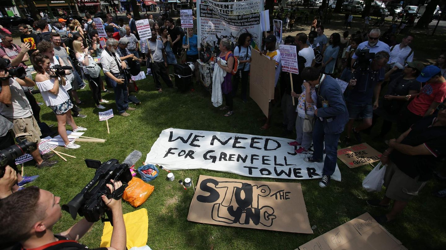 Grenfell Tower Protest London