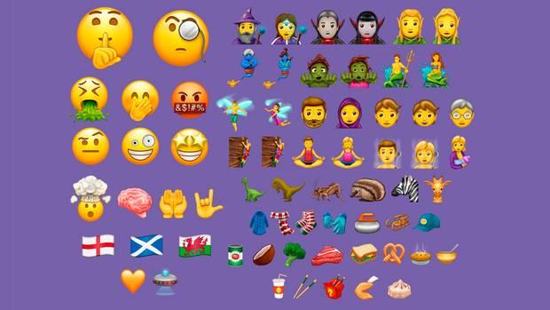Alle in Unicode 10.0 hinzugekommenen Emoji