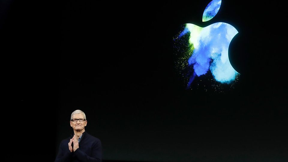 Apple Chef Tim Cook bei der Präsentation des iPhone 7